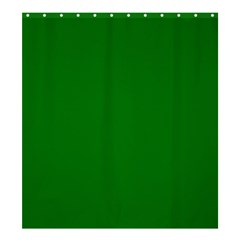 Solid Christmas Green Velvet Classic Colors Shower Curtain 66  x 72  (Large)