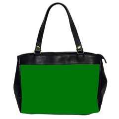Solid Christmas Green Velvet Classic Colors Office Handbags (2 Sides)