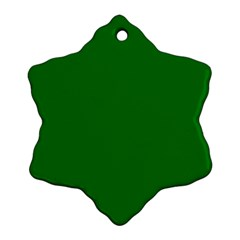 Solid Christmas Green Velvet Classic Colors Ornament (Snowflake)