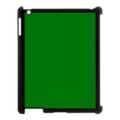 Solid Christmas Green Velvet Classic Colors Apple iPad 3/4 Case (Black)