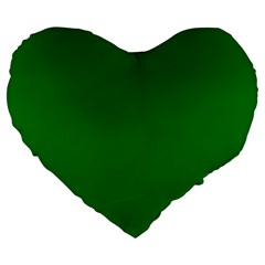 Solid Christmas Green Velvet Classic Colors Large 19  Premium Heart Shape Cushions