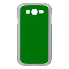 Solid Christmas Green Velvet Classic Colors Samsung Galaxy Grand DUOS I9082 Case (White)