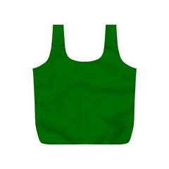 Solid Christmas Green Velvet Classic Colors Full Print Recycle Bags (S)