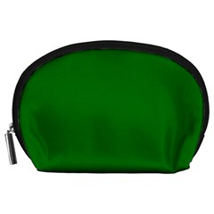 Solid Christmas Green Velvet Classic Colors Accessory Pouches (Large)