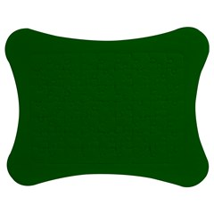 Solid Christmas Green Velvet Classic Colors Jigsaw Puzzle Photo Stand (Bow)