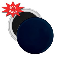 Solid Christmas Silent night Blue 2.25  Magnets (100 pack)