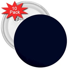 Solid Christmas Silent night Blue 3  Buttons (10 pack)