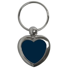 Solid Christmas Silent night Blue Key Chains (Heart)