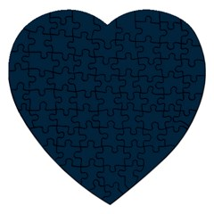 Solid Christmas Silent night Blue Jigsaw Puzzle (Heart)
