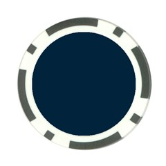 Solid Christmas Silent night Blue Poker Chip Card Guard