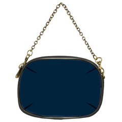 Solid Christmas Silent night Blue Chain Purses (Two Sides)