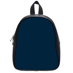 Solid Christmas Silent night Blue School Bags (Small)