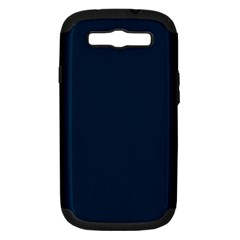 Solid Christmas Silent night Blue Samsung Galaxy S III Hardshell Case (PC+Silicone)