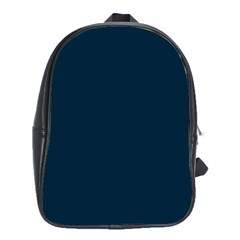 Solid Christmas Silent night Blue School Bags (XL)