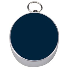 Solid Christmas Silent night Blue Silver Compasses