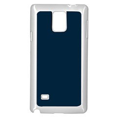 Solid Christmas Silent night Blue Samsung Galaxy Note 4 Case (White)