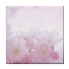 Pink Blossom Bloom Spring Romantic Tile Coasters