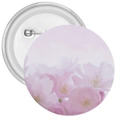 Pink Blossom Bloom Spring Romantic 3  Buttons