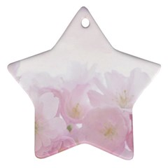 Pink Blossom Bloom Spring Romantic Ornament (star)