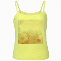 Pink Blossom Bloom Spring Romantic Yellow Spaghetti Tank