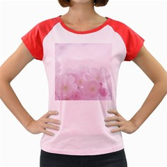 Pink Blossom Bloom Spring Romantic Women s Cap Sleeve T Shirt