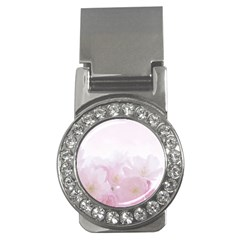 Pink Blossom Bloom Spring Romantic Money Clips (cz)