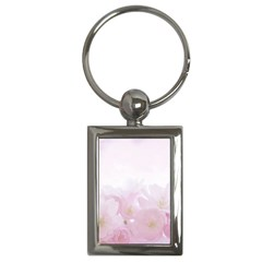Pink Blossom Bloom Spring Romantic Key Chains (rectangle)