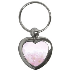 Pink Blossom Bloom Spring Romantic Key Chains (heart)