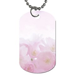 Pink Blossom Bloom Spring Romantic Dog Tag (one Side)