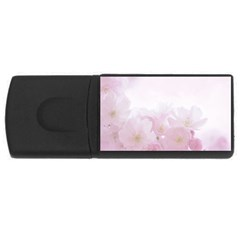 Pink Blossom Bloom Spring Romantic USB Flash Drive Rectangular (2 GB)