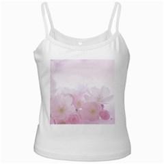 Pink Blossom Bloom Spring Romantic Ladies Camisoles