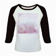 Pink Blossom Bloom Spring Romantic Kids Baseball Jerseys