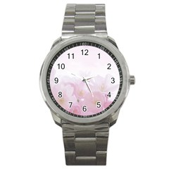 Pink Blossom Bloom Spring Romantic Sport Metal Watch