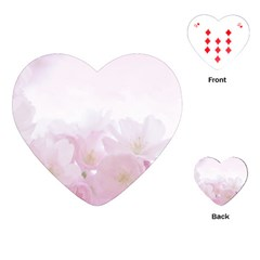 Pink Blossom Bloom Spring Romantic Playing Cards (heart)