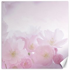 Pink Blossom Bloom Spring Romantic Canvas 16  x 16