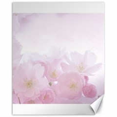 Pink Blossom Bloom Spring Romantic Canvas 16  x 20