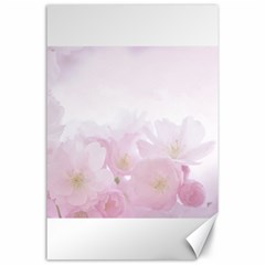 Pink Blossom Bloom Spring Romantic Canvas 24  x 36