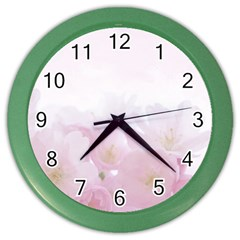Pink Blossom Bloom Spring Romantic Color Wall Clocks