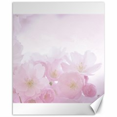 Pink Blossom Bloom Spring Romantic Canvas 11  x 14