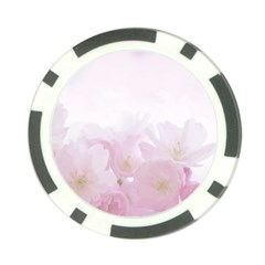 Pink Blossom Bloom Spring Romantic Poker Chip Card Guard