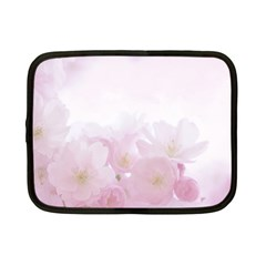 Pink Blossom Bloom Spring Romantic Netbook Case (Small)
