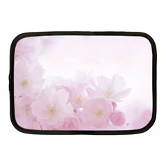 Pink Blossom Bloom Spring Romantic Netbook Case (medium)