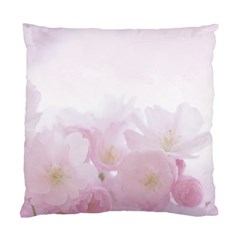 Pink Blossom Bloom Spring Romantic Standard Cushion Case (one Side)
