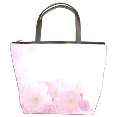 Pink Blossom Bloom Spring Romantic Bucket Bags