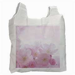 Pink Blossom Bloom Spring Romantic Recycle Bag (Two Side)
