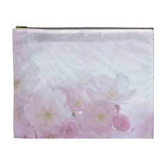 Pink Blossom Bloom Spring Romantic Cosmetic Bag (XL)