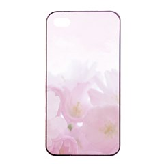 Pink Blossom Bloom Spring Romantic Apple iPhone 4/4s Seamless Case (Black)