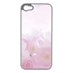 Pink Blossom Bloom Spring Romantic Apple iPhone 5 Case (Silver)