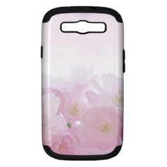Pink Blossom Bloom Spring Romantic Samsung Galaxy S III Hardshell Case (PC+Silicone)