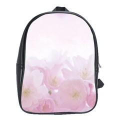 Pink Blossom Bloom Spring Romantic School Bags (XL)